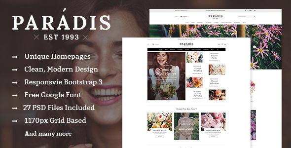 Paradise - Multipurpose eCommerce PSD Template
