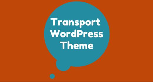 Transport WordPress Theme