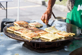 Traditional murtabak cuisine being prepared