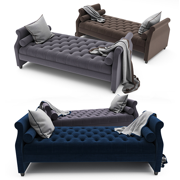 Tufted Sofa Bed - 3DOcean Item for Sale