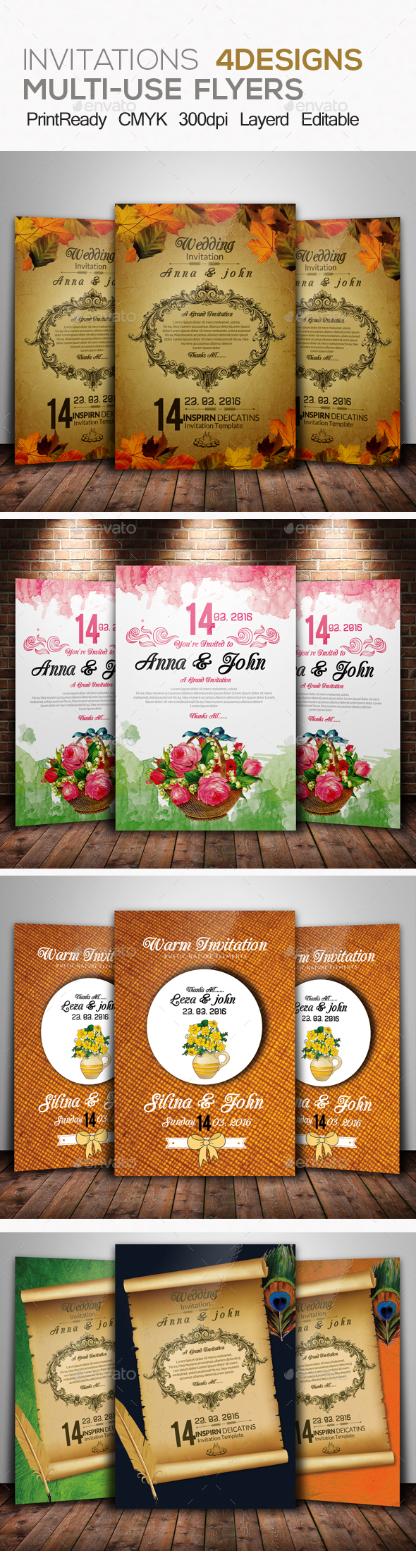 Wedding Invitation & RSVP Bundle