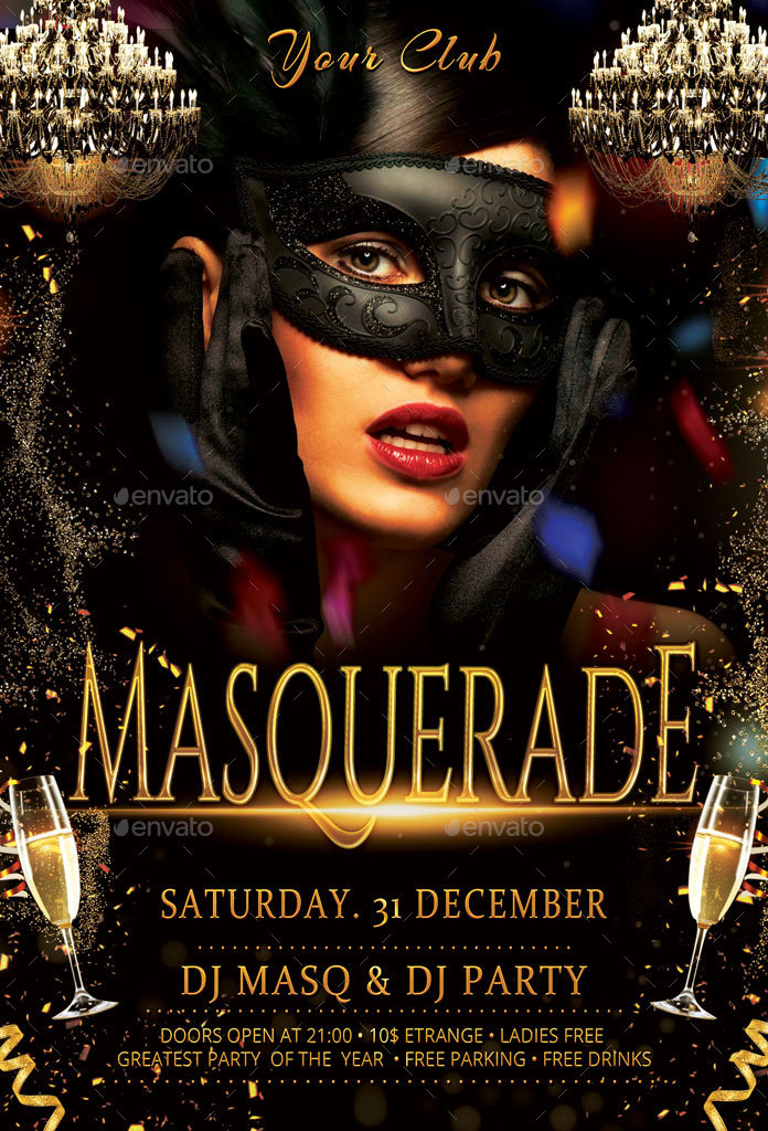 Carnival Masquerade Party Flyer by oloreon | GraphicRiver