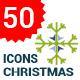 Flat Snowflakes Icons
