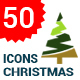 Flat Christmas Tree Icons