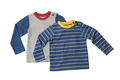 Two children's T-shirts with long sleeves.