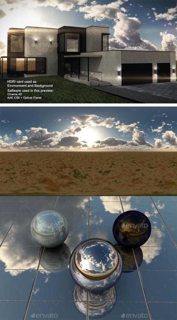 Dusk Desert 11 - 3DOcean Item for Sale