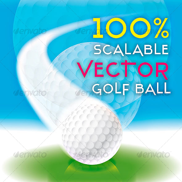 GraphicRiver REALISTIC 100% SCALABLE GOLF BALL VECTOR 54899