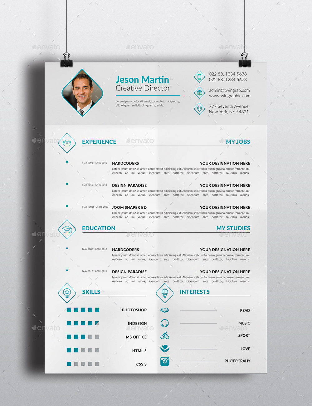corporate cv resume bundle by twingraphic graphicriver