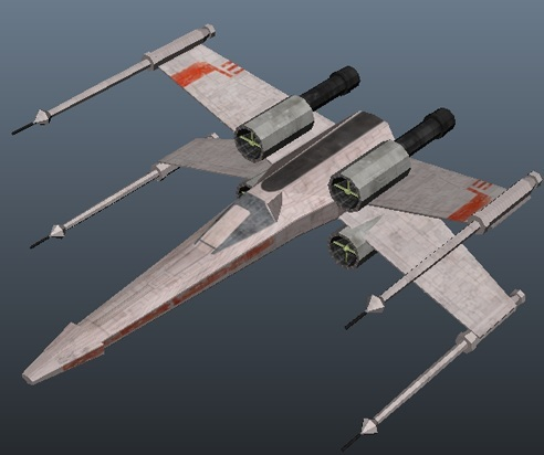 Star Wars X-wing fighter - low poly  - 3DOcean Item for Sale
