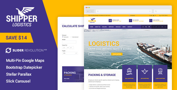 Shipper Logistic - Transportation HTML Template