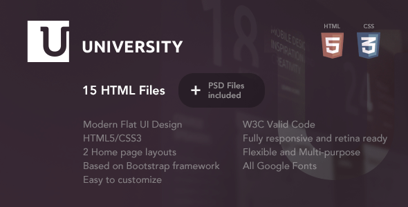 University – Education HTML Template