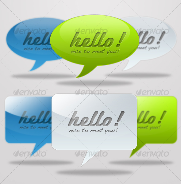 GraphicRiver Web 2.0 Message Balloons 55078