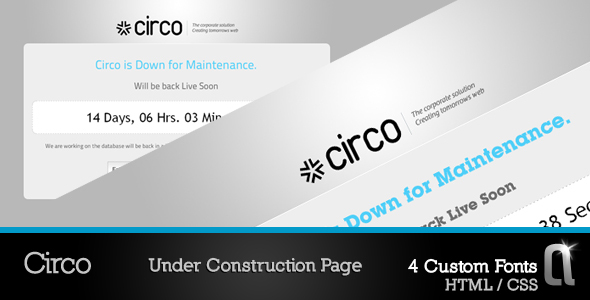 ThemeForest Circo Under Construction HTML Page 54553