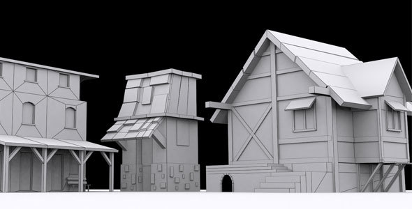 Low Poly Asset 3 - 3DOcean Item for Sale