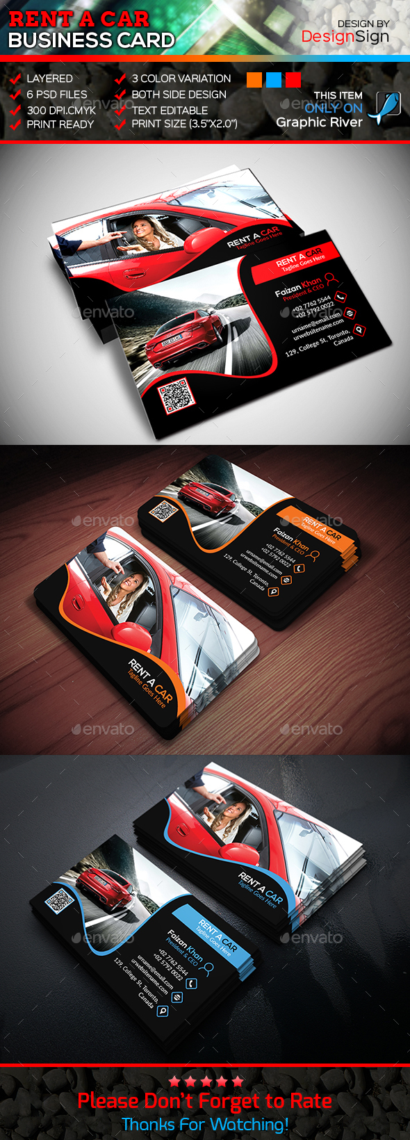 Rent a car business card graphics designs templates magicingreecefo Images