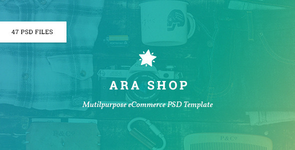 Ara – Multi-Purpose eCommerce PSD (Shopping) images