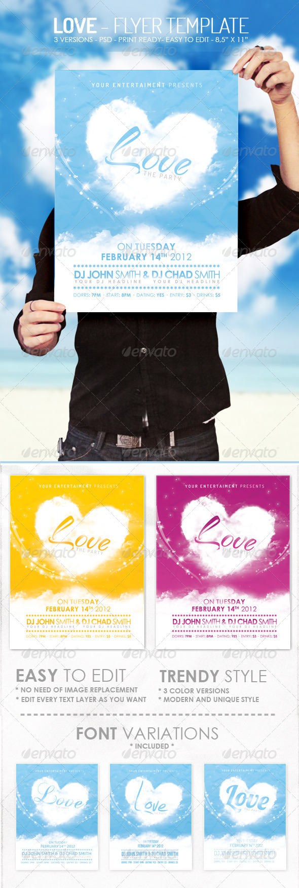 GraphicRiver Love Flyer Template 1391053