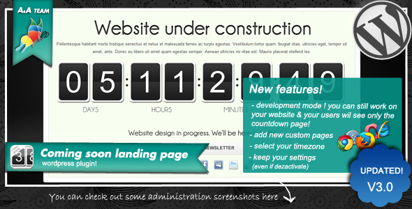 CodeCanyon Coming soon landing page Wordpress Plugin 154949