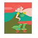 Beautiful Girl Run Game For SocialKit
