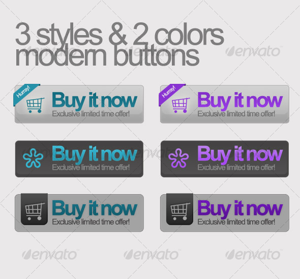 GraphicRiver Buy it now buttons 3 styles w 2 colors 55114