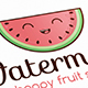 Happy Watermelon Logo Template