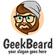 Geek Beard Logo Template