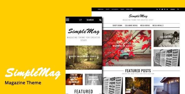 SimpleMag - Magazine Drupal 8 Theme