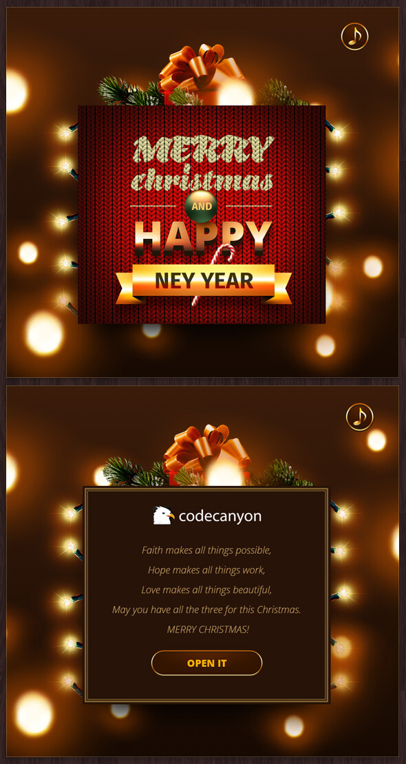 Merry Christmas & Happy New Year Card. - CodeCanyon Item for Sale
