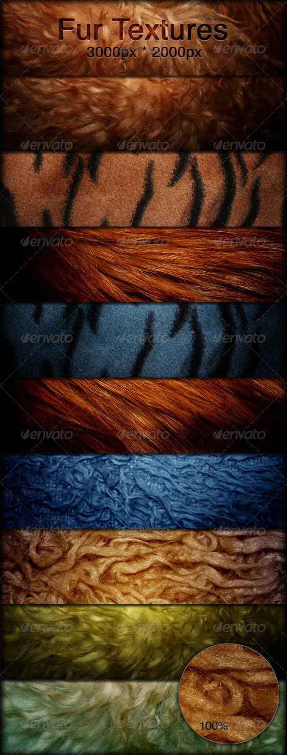 GraphicRiver Fur Textures Faux Fur Fabrics 165032