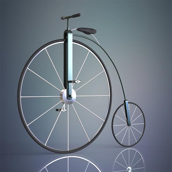 3DOcean Penny farthing bicycle 13931066
