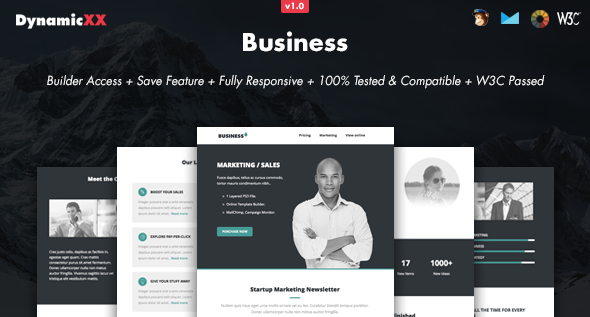 Business - Responsive Email + Online Builder
