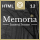 Memoria - Funeral Home HTML Template - ThemeForest Item for Sale