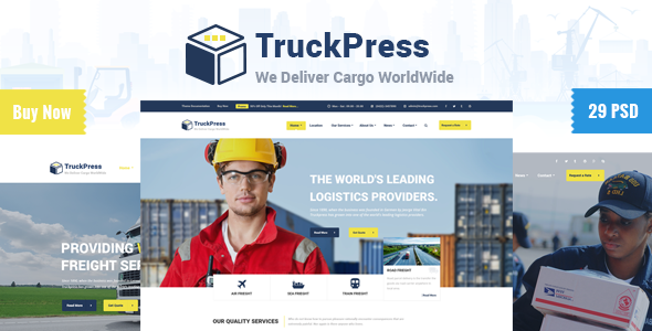 TruckPress | Logistics & Transport Business PSD (Business) images