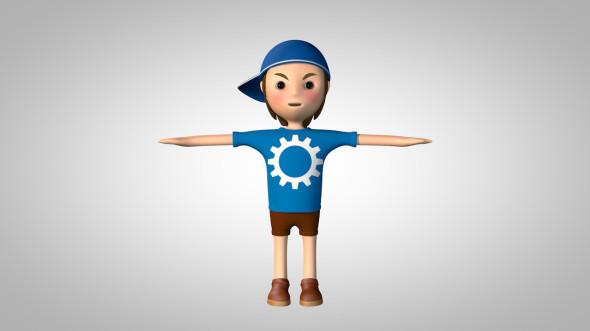 Cute Boy - 3DOcean Item for Sale