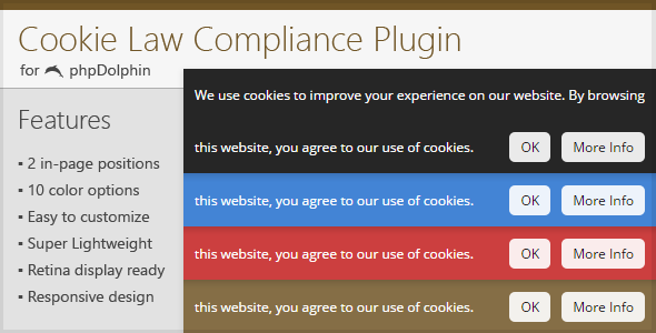 Cookie Law Compliance Plugin for phpDolphin