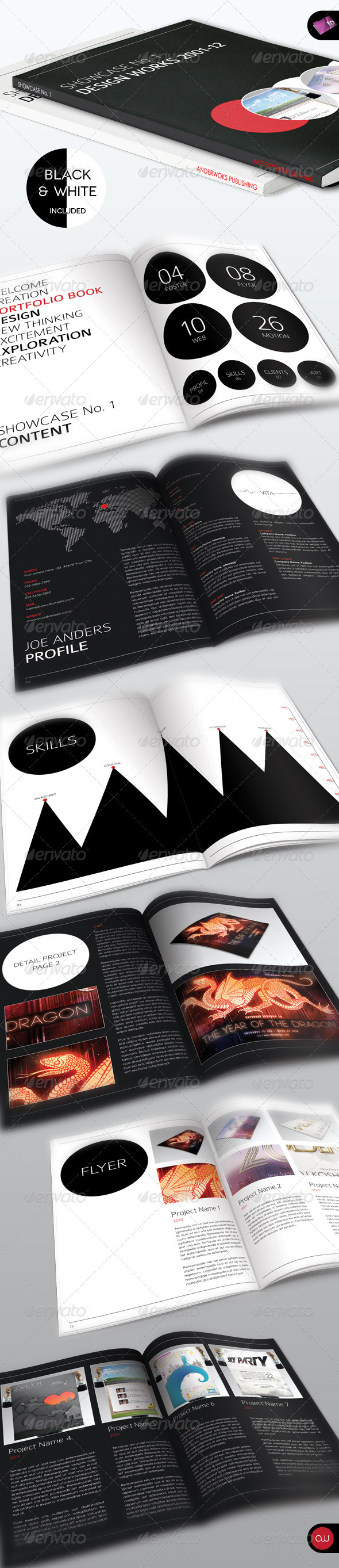 Showcase No.1 • Portrait Portfolio Brochure - Corporate Brochures