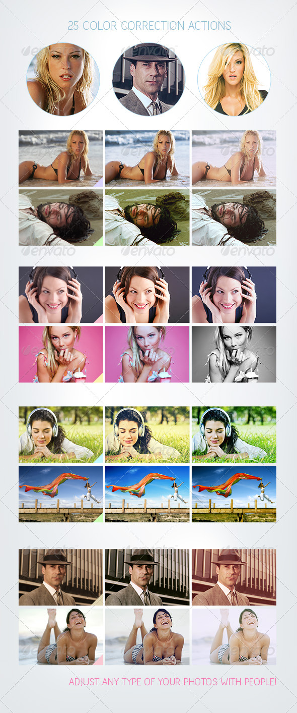 25 Color Correction Actions - Photo Effects Actions