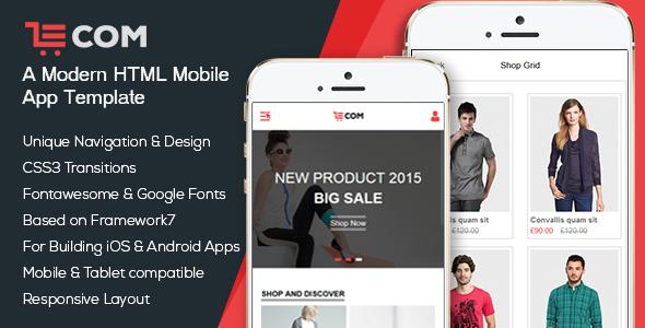 eCom - Mobile & App HTML Template