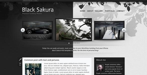 Black Sakura - Personal PSD Templates