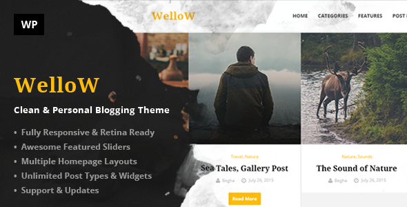 Wellow – Clean & Personal Blogging Theme