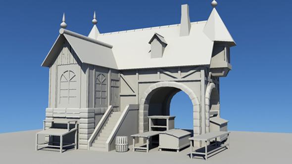 3DOcean Basic 3D house 13900942