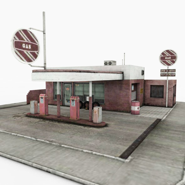 Gas Station - 3DOcean Item for Sale