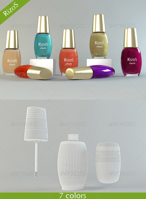 Nail polish - 3DOcean Item for Sale