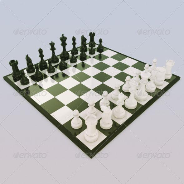 3DOcean Chess Set 165626