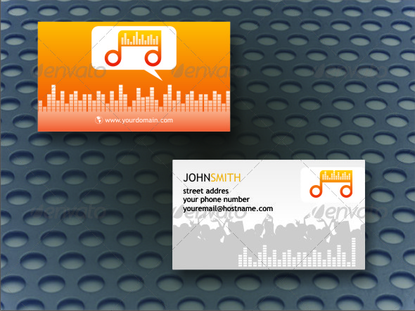 DJ Business Card - Industry Specific Business Cards