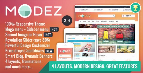 14. MODEZ - Responsive Prestashop 1.6 Theme + Blog