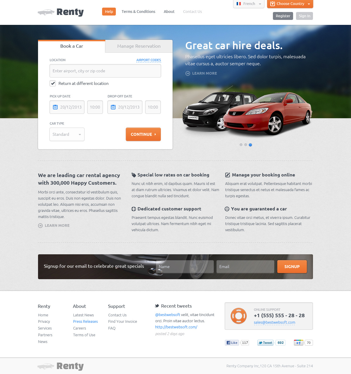 Best House Rental Site: Car Rental & Booking HTML5 Template By