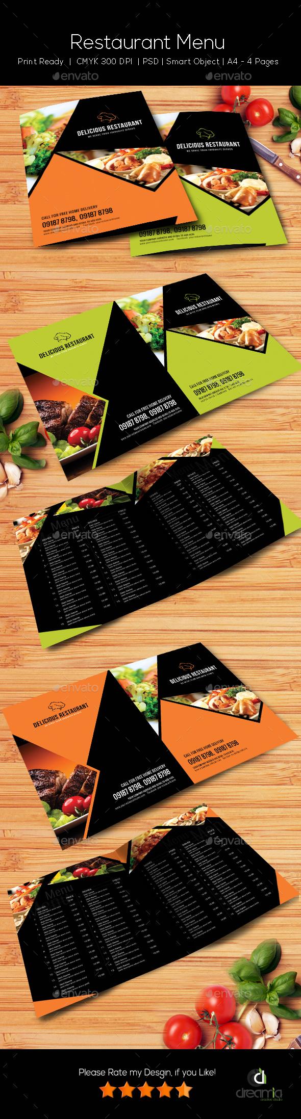 Restaurant Menu Template - Vol4