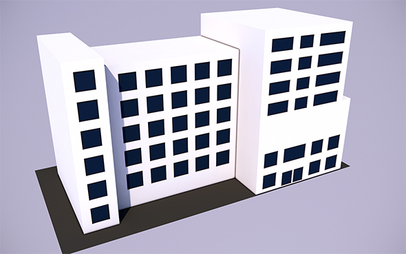 Low Poly Skyscraper - 3 (Ready to Render) - 3DOcean Item for Sale