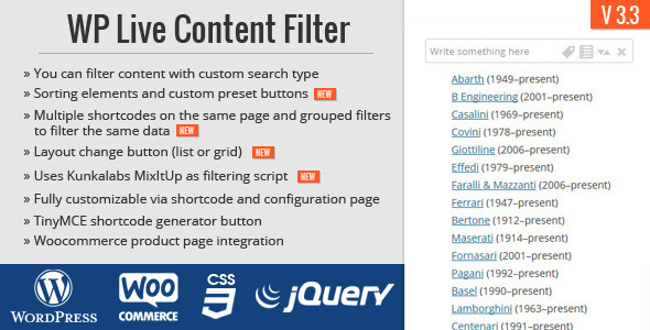Download WP Live Content Filter nulled download